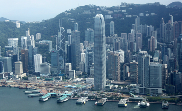 View of Hong Kong's Central Piers (Navjot Singh)