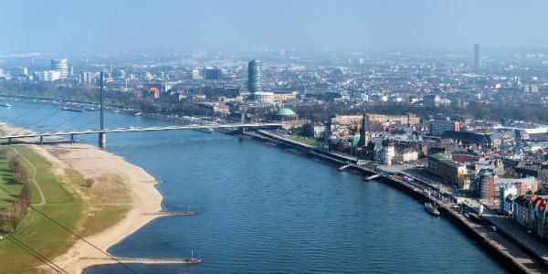 The Rhine, Oberkasseler Bridge & Old Town