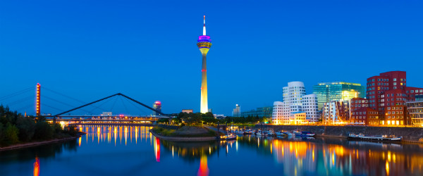 Panorama of Dusseldorf