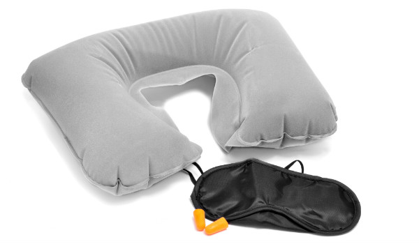 Travel Pillow, Eye Mask and Earplugs