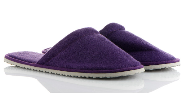 Purple Slippers Fit for Travel