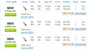 Fly.com Results: $850 – Atlanta to Beijing (Roundtrip, incl. Tax)