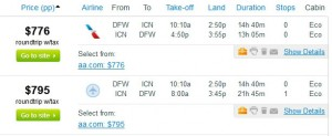 Fly.com Results: $776 - Dallas to Seoul (Roundtrip, incl. Tax)