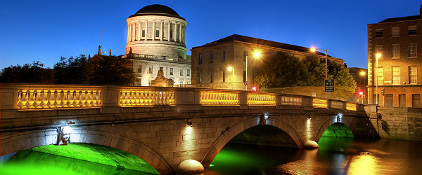 River Liffey & Four Courts Building, Dublin, Ireland Featured (Shutterstock.com)