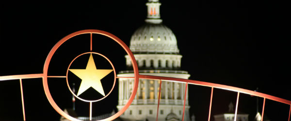 Star of Texas with Capitol in Background Featured (Shutterstock.com)