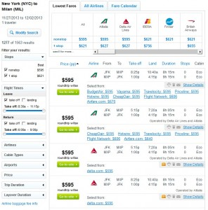 Fly.com Search Results: $595 -- NYC to Milan Nonstop (R/T incl. Tax)