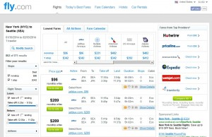 $96 -- NYC to Seattle: Fly.com Results