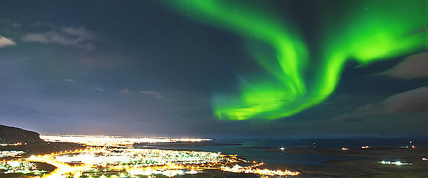 NorthernLightsAboveReykjavikIcelandFeatured