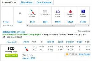 Atlanta-Kahului, Maui: Fly.com Search Results