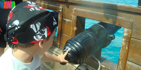 Firing Water Canons on the Treasure Seeker (Michelle Erickson)