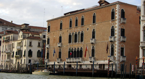 View of The Gritti Palace from a Gondola