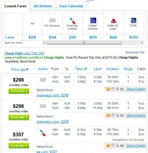 Houston to Aruba: Fly.com Search Results