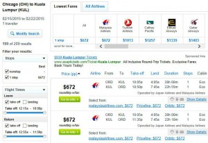 Chicago-Kuala Lumper: Fly.com Search Results