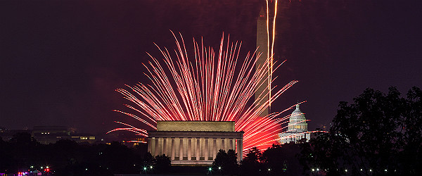 Independence Day Fireworks in Washignton, D.C. Featured (Shutterstock.com)