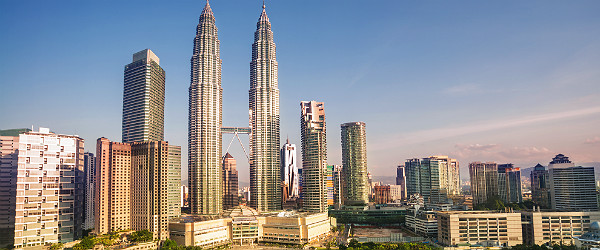 Kuala Lumpur Landscape with Petronas Towers Featured