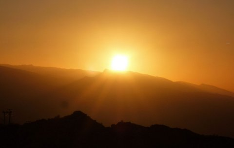 Sunset over the Mountains in Oman (Godfrey Hall)