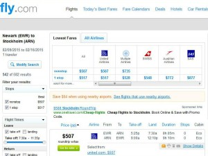 Newark-Stockholm: Fly.com Search Results