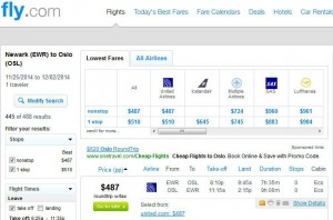 Newark-Oslo: Fly.com Search Results