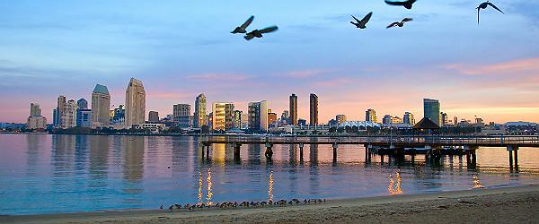 San Diego at Dawn Featured