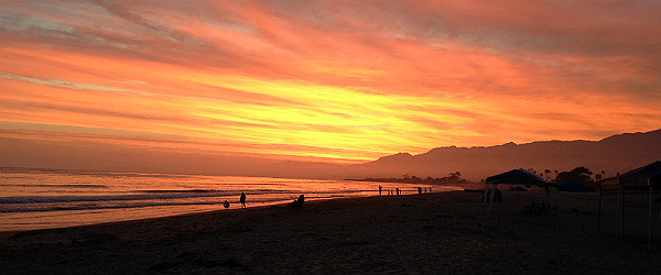 Sunset at Carpinteria Sate Beach