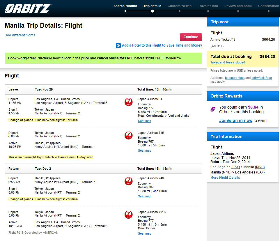 Orbitz Japan Vacation Packages: $665 -- Los Angeles To Manila, Philippines (R/T, W/Tax