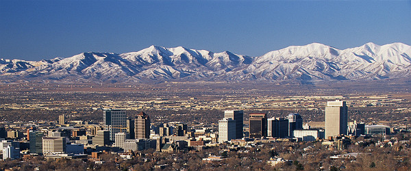 Salt Lake City & Snowcapped Wasatch Mountains Featured (Shutterstock.com)