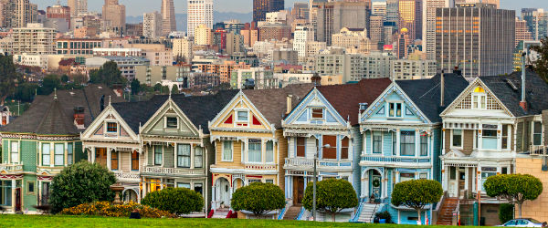 San Francisco's Painted Ladies Featured (Shutterstock.com)