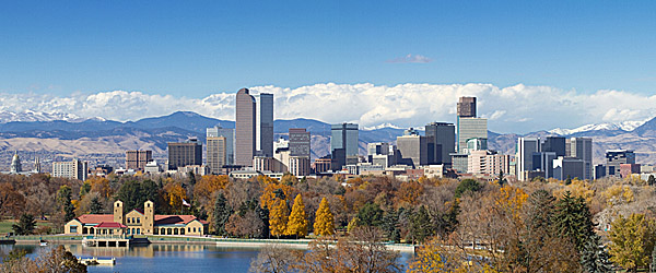 Denver with Rocky Mountains in the Background Featured
