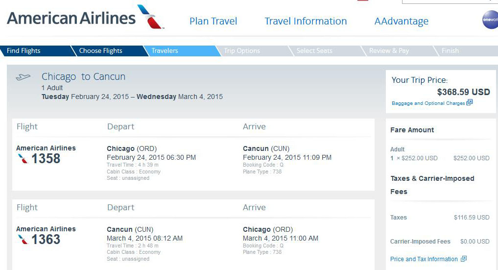 127 369 Chicago To Warm Weather Destinations
