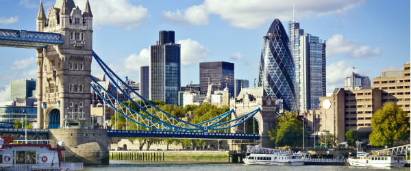 Financial District of London and The Tower Bridge Featured (Shutterstock.com)