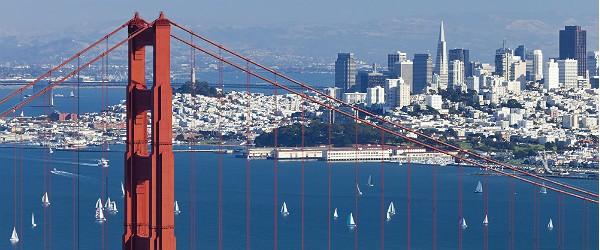 San Francisco with Golden Gate Bridge Featured (Shutterstock.com)