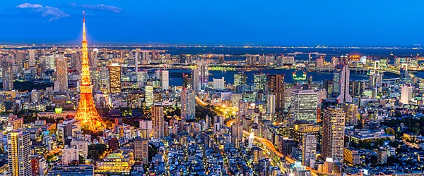 Tokyo Skyline at Night Featured (Shutterstock.com)