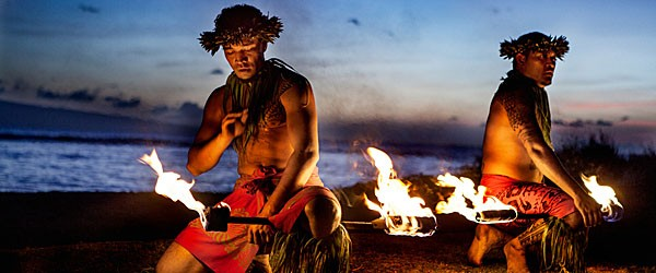 Dancers Preparing to Dance with Fire in Maui Featured (Shutterstock.com)