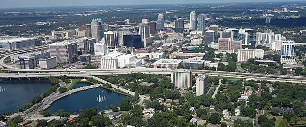 Aerial View of Downtown Orlando Featured (Shutterstock.com)