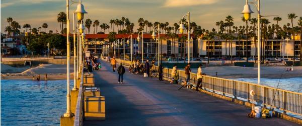 Belmont Pier in Long Beach, Los Angeles Featured