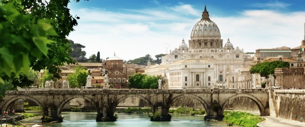 View on Tiber and St Peter Basilica in Vatican Featured (Shutterstock.com)