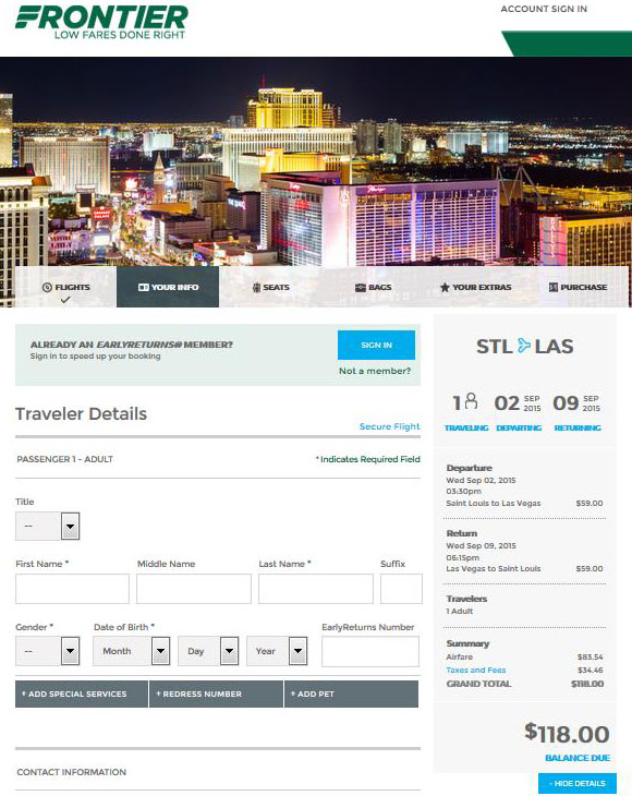 98$118  St. Louis to Orlando amp; Las Vegas Nonstop R/T  Fly.com