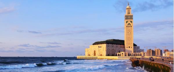 Hassan II Mosque at Sunset, Casablanca Featured (Shutterstock.com)
