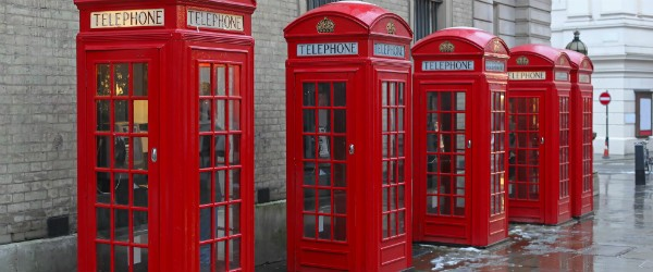 Telephone Booths at West End in London Featured (Shutterstock.com)