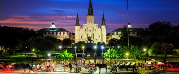 Saint Louis Cathedral and Jackson Square, New Orleans Featured (Shutterstock.com)