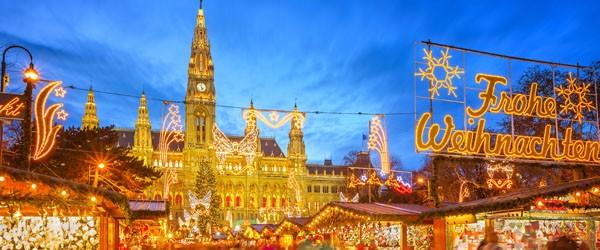 Traditional Christmas Market in Vienna, Austria Featured  (Shutterstock.com)