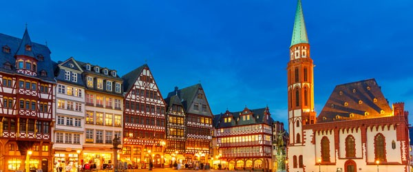 Historic Center of Frankfurt at Dusk Featured (Shutterstock.com)