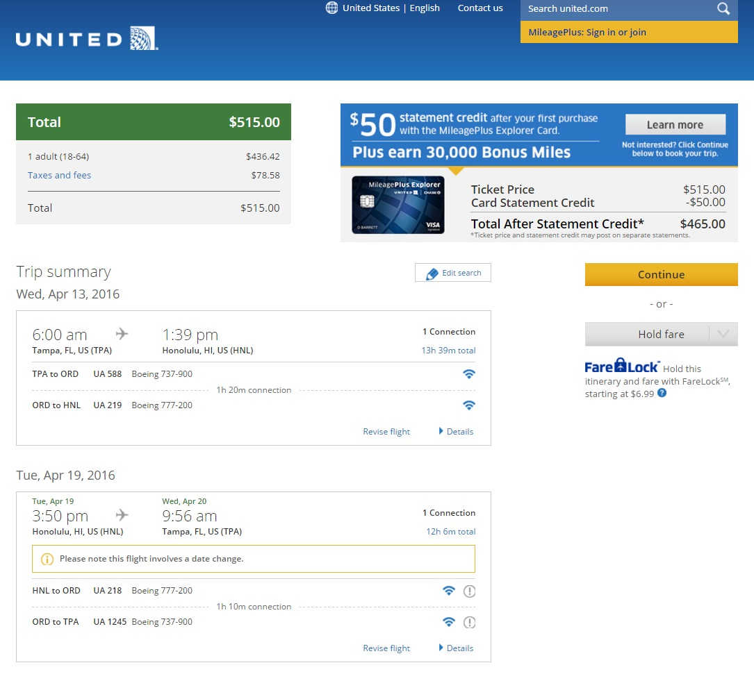 515 Tampa To Honolulu Hawaii R T Fly Com Travel Blog