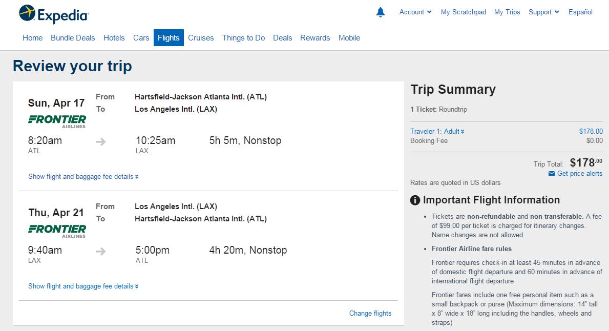 $177-$217 -- Atlanta to San Diego & LA (R/T) | Fly.com ...
