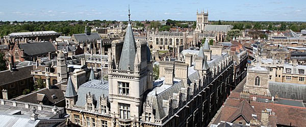 Aerial View of Cambridge's Historical Buildings Featured (Shutterstock.com)