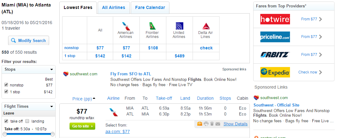 Last minute travel deals from boston to miami