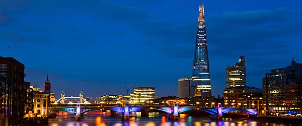 London Cityscape with Southwark Bridge and The Shard Featured (shuttterstock.com)